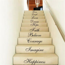 Wall Stair Riser Stickers Ten Inspiration Words Quotes Decal Home Vinyl De P_vi