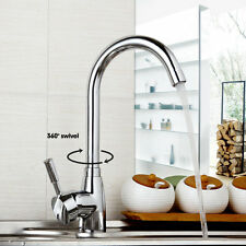 US Kitchen Faucet Chrome Toilet Sink Mixer Basin Tap Single Handle Deck Mounted