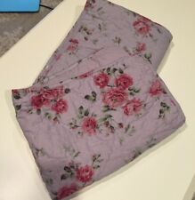 Simply Shabby Chic Quilted Lavender Rose Standard Pillow Shams Pair