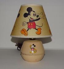 "DISNEY1930's MICKEY MOUSE""TIN DESKTOP LAMP-SORENG MANEGOLD+""HAND PAINTED""SHADE"