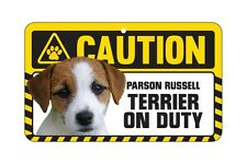 Dog Sign Caution Beware - Parson Russell Terrier