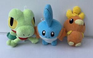Pokemon Plush Bundle Torchic Treecko Mudkip Teddy Nintendo Hasbro Toys X3