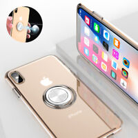 Phone Case With Magnetic Ring Holder Rubber Cover For iPhone X 8 Plus XR XS Max