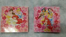 NEW Disney Princess Mini Memo Pad Set of 2 Japan - Made in Japan
