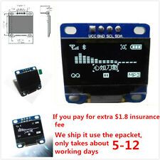 "0.96"" I2C IIC SPI Serial 128X64 White OLED LCD LED Display Module for Arduino GT"
