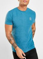 Gym King Mens New Short Sleeve Crew Neck Set in Sleeve Cotton T-Shirt Teal