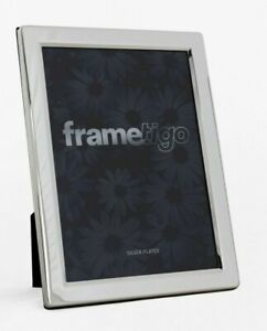 """Silver Plated Photo Frame 2.5 x 3.5"""" Picture Modern Flat Edge Single Gift Boxed"""