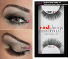 1 Pair AUTHENTIC RED CHERRY 205 Therese False Eyelashes Human Hair Lashes