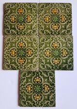 Five beautiful Minton and Hollins tiles circa 1860