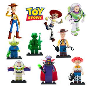 8pcs Toy Story 4 For Lego Woody Buzz Pixar Mini Figure Toys Building Blocks Army
