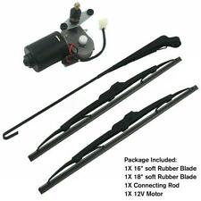 "UTV 12V Electric Windshield Wiper Motor Kit for Honda Polaris Ranger RZR 18"" Rod"