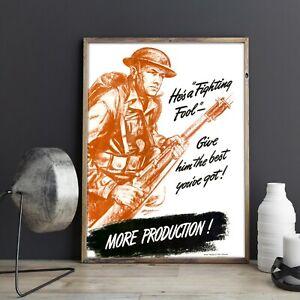 World War 2 Propaganda-Vintage Poster-Movies Comics Poster- Poster Print