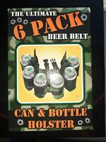 6 Pack Soda Beer Belt Camouflage Party Stag Drinking Game Can & Bottle Holder