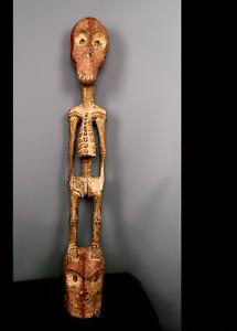 Old Tribal Bakongo Skeleton fetish Figure   ---  Congo  CWH