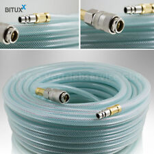 BITUXX® 15 Meter PVC Druckluftschlauch mit 1/4 Schnellkupplung für Kompressoren