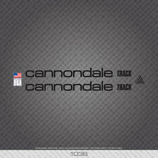 01038 Cannondale Track Bicycle Stickers - Decals - Transfers - Black