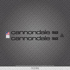 01038 Adesivi Bicicletta Cannondale Track-Decalcomanie-Transfers-Nero