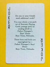 Father Flanagan's Boys Town Card Order Joker Single Swap Playing Card