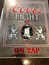 Vintage 1983 Coors Light Beer On Tap Mirror Man Bar Cave Decor Decoration 1983