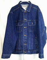 Men's Wrangler Rugged Wear Denim Jean Trucker Jacket Size XXL