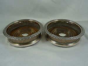 PAIR, OLD SHEFFIELD plate WINE COASTERS, c1830