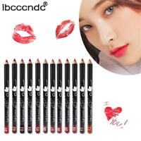 12 Colors Smooth Lips Pencil Set Eyeline Pen Lip Liner Tattoo Makeup Beauty