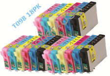 18-Pk/Pack Ink Cartridge For Epson T098 Artisan 800 810 835 837 700 710 725 730