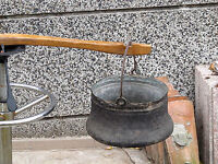 RARE ANTIQUE PRIMITIVE COPPER VESSEL BOWL BUCKET CALDRON PAIL FOR WATER COOKING