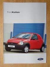 FORD KA Van 2002 UK inchiostri SALES BROCHURE