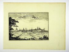 BERGUE ST. VINOX  FLANDERN BELGIEN SELTENER KUPFERSTICH  BEAULIEU 1665 #D857S