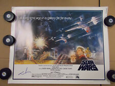 Star Wars ORIGINAL 1977 VINTAGE HALF SHEET Movie Poster Signed George Lucas