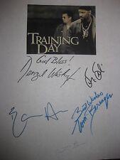 Training Day Signed Film Script Denzel Washington Ethan Hawke Dr. Dre Glenn rpnt
