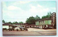 1977 1970s Vintage Cars Shamrock Motel Valdosta Georgia GA old Postcard A84