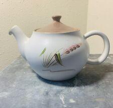 Vintage Denby Harvest Handle Brown Lid Alfred College England Covered Teapot