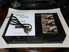 Denon Dr M4 3 Head Dual Capstan Hi-End Stereo Cassette Tape Deck & Bonus