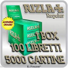 Cartine Rizla VERDI Corte 5000 fogli 1 box da 100 Libretti - RIZLA GREEN
