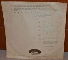 Rare 1960s Indonesia RECORD LABEL INNER SLEEVE Irama Jakarta WORLD MUSIC