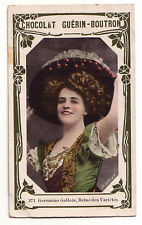1900s French Trade Card Theatre Singer Actress Germaine Gallois