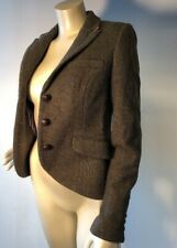 Jack Wills Sz 6 WOOL Herringbone Tweed Blazer Riding Hunting Jacket Bin-O