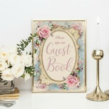 Guest Book Sign, Wedding Guestbook Sign, Party Decor, Table Sign, Shabby Chic