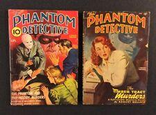 2 Vintage PHANTOM DETECTIVE Pulp Magazines September 1940 & July 1948 Original