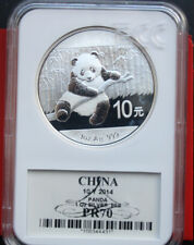 "China: 10 Yuan ""Panda"" 2014, ST-BU  #F 2058 ECC MS 70"