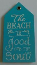 The Beach Is Good For The Soul - Wooden Beach Hut Themed Fridge Magnet