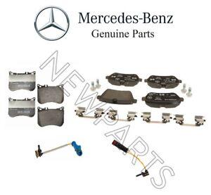 For Mercedes W222 Maybach S550e Rear & Front Brake Pads Set w/ Sensors Genuine