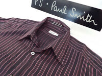 """PAUL SMITH Mens MAINLINE Shirt 🌍 Size S (CHEST 36"""") 🌎RRP £195+📮AERATED STRIPE"""