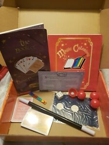 2001 Scholastic Kids Magic University Storage Trunk Book Cards Wand Dice Tricks