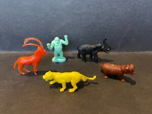 CEREAL TOY 1976 BIG GAME ANIMALS LOT OF 5