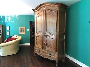 1800's Walnut French Armoire Incredible