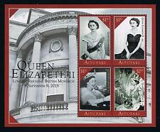 Aitutaki 2015 Queen Elizabeth II Stamp Issue Souvenir Sheet