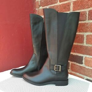 Timberland Wide Calf Tall Riding Boots Waterproof Leather 9.5 Gift Blogger